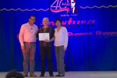 Entrega de reconocimiento a MSc. Francisco Javier Bautista